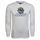 White Long Sleeve T Shirt-Primary Mark
