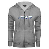 ENZA Ladies Grey Fleece Full Zip Hoodie-SWOSU