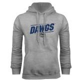 Grey Fleece Hoodie-Dawgs Fancy Lines