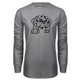 Grey Long Sleeve T Shirt-Bulldog