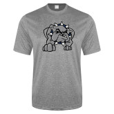 Performance Grey Heather Contender Tee-Bulldog