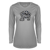 Ladies Syntrel Performance Platinum Longsleeve Shirt-Bulldog