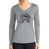Ladies Syntrel Performance Platinum Longsleeve Shirt-Bulldog