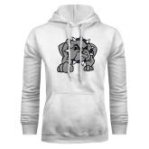 White Fleece Hoodie-Bulldog