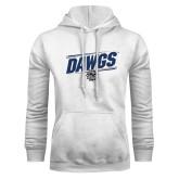 White Fleece Hoodie-Dawgs Fancy Lines