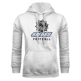 White Fleece Hoodie-Football