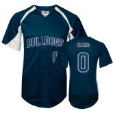 Southwestern Oklahoma State Replica Navy Adult Baseball Jersey-Personalized
