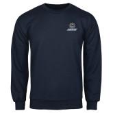 Navy Fleece Crew-Primary Mark