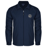 Full Zip Navy Wind Jacket-Bulldog Head