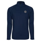 Sport Wick Stretch Navy 1/2 Zip Pullover-Bulldog Head