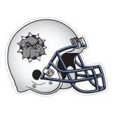 Football Helmet Magnet-Bulldog Head