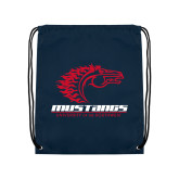 Navy Drawstring Backpack-Primary Mark