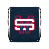 Navy Drawstring Backpack-SW