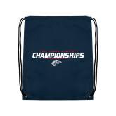 Navy Drawstring Backpack-Cross Country Championship