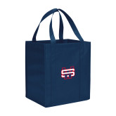 Non Woven Navy Grocery Tote-SW