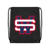 Black Drawstring Backpack-SW