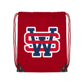 Red Drawstring Backpack-SW