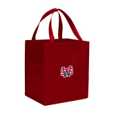 Non Woven Red Grocery Tote-SW
