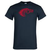 Navy T Shirt-Horse Head
