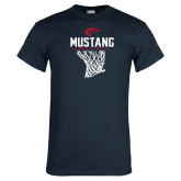 Navy T Shirt-Mustang Basketball