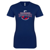 Next Level Ladies SoftStyle Junior Fitted Navy Tee-Womens Soccer Tournament