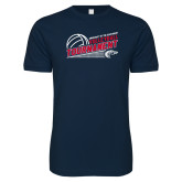 Next Level SoftStyle Navy T Shirt-Volleyball Tournament