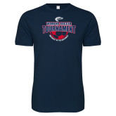 Next Level SoftStyle Navy T Shirt-Womens Soccer Tournament