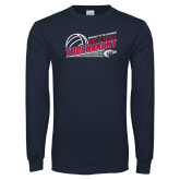 Navy Long Sleeve T Shirt-Volleyball Tournament