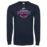 Navy Long Sleeve T Shirt-Mens Soccer Tournament