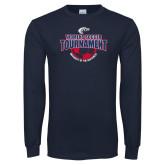 Navy Long Sleeve T Shirt-Womens Soccer Tournament