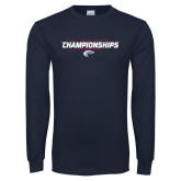 Navy Long Sleeve T Shirt-Cross Country Championship