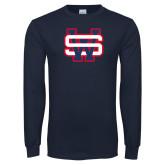 Navy Long Sleeve T Shirt-SW