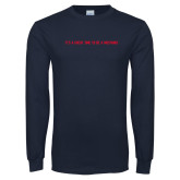 Navy Long Sleeve T Shirt-Its a Great To Be a Mustang