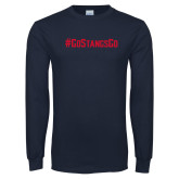 Navy Long Sleeve T Shirt-Go Stangs Go