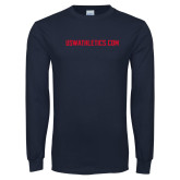 Navy Long Sleeve T Shirt-USWAthletics