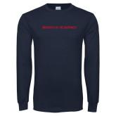 Navy Long Sleeve T Shirt-University of the Southwest