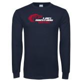 Navy Long Sleeve T Shirt-Lady Mustang Basketball