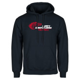 Navy Fleece Hoodie-Lady Mustang Volleyball