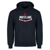 Navy Fleece Hoodie-Mustang Softball