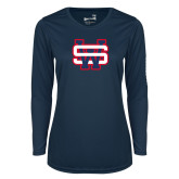 Ladies Syntrel Performance Navy Longsleeve Shirt-SW