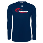 Under Armour Navy Long Sleeve Tech Tee-Mustang Track and Field