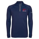 Under Armour Navy Tech 1/4 Zip Performance Shirt-Primary Mark