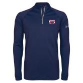 Under Armour Navy Tech 1/4 Zip Performance Shirt-SW