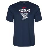 Performance Navy Tee-Mustang Basketball