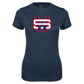 Ladies Syntrel Performance Navy Tee-SW