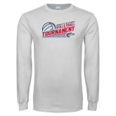 White Long Sleeve T Shirt-Volleyball Tournament