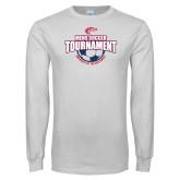White Long Sleeve T Shirt-Mens Soccer Tournament