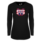 Ladies Syntrel Performance Black Longsleeve Shirt-SW