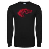 Black Long Sleeve T Shirt-Horse Head