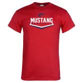 Red T Shirt-Mustang Baseball